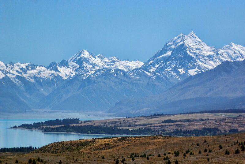 Name:  Mt Cook from Tekapo..jpg